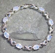 Silver Elegant Moonstone & Crystal Bracelet WB10612