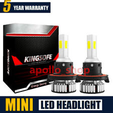 Mini 4-Sides H13 9008 2400W 36000LM LED Headlight Bulb Fog Lamp Hi/Lo Beam 6000K