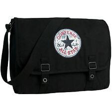 CONVERSE Umhängetasche Schultertasche Überschlagtasche Tasche VINTAGE Schwarz