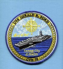 CVN-78 USS GERALD R FORD US NAVY Aircraft Carrier Ship Squadron Cruise Patch