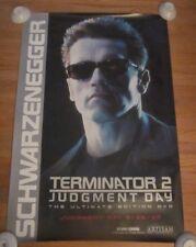 Terminator 2 Judgement Day DVD release POSTER Arnold Schwarzenegger RARE sci fi