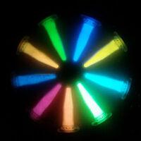 SET 9x Leuchtpulver Glühpulver Nachleuchtpulver Leuchtpigment Glow Bastel Epoxid