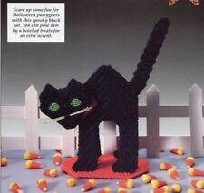 "Howl-oween Cat 8"" Wide Halloween Plastic Canvas Pattern - 30 Days To Shop & Pay!"