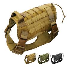 Military Dog Harness Large K9 Molle Training Tactical Vest Wear Dobermans Boxer