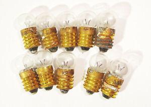 10 Stück Kugellampe E10 3,5V Glühbirne Glühlampe Zwerglampe Lampe Fassung DDR