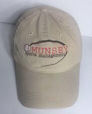 MUNSEY Sports Management Baseball Cap Hat Adjustable Leather Belt 100% Cotton