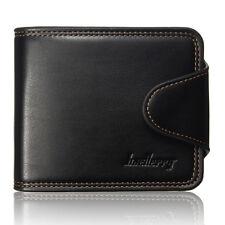 Men Leather Wallet Credit Card Holder Purse Bifold Money Clip Pockets Coin Bag