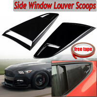 1/4 Quarter Window Louver Side Vent Scoop Cover Glossy For Ford Mustang 2015-20