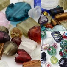 HOT / ONE Pound Mixed Colors Assorted Lampwork Glass Beads WHOLESALE Bulk Lot