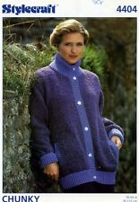 Vintage Stylecraft knitting pattern 4404 - Womens Jacket in Chunky, bust 30-44""