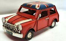 More details for metal london union jack red mini cooper car model ornament vintage retro 16 cm