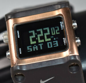 RARE! NIKE TIMING WC0040-261 Sledge Cappuccino Unisex Watch NEW BATTERY!