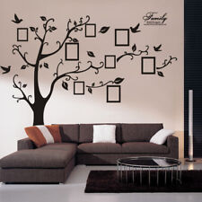 Family Tree Wall Decal Sticker Home Decor Large Vinyl Art Picture Removable Blk