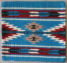 Wool Pillow Cover HIMAYPC-56 Hand Woven Southwest Southwestern 18X18 Black