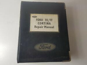 Ford TE TF Cortina 1980 factory workshop manual in folder ex dealers - genuine