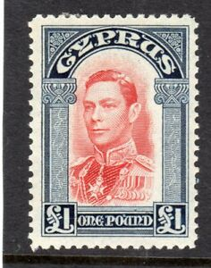 CYPRUS GEORGE VI 1938 £1 SG;163 MM