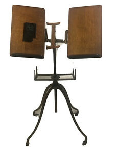 Antique c 1890s Folding Cast Iron Music Stand L.W. Noyes