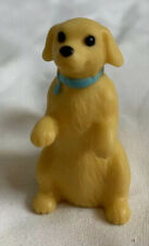 Yellow puppy dog with blue collar dollhouse miniature pet