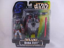 Star Wars POTF 2 Deluxe Boba Fett with Wing-Blast rocketpack moc