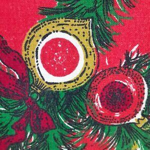 Vintage Christmas Tablecloth Rectangular 66x51~