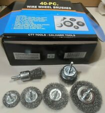40PC Wire Wheel Brush Cup  Assortment Crimped Steel 1/4