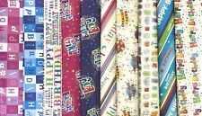 Happy Birthday Wrapping Paper 10 Assorted Design Sheets (1of each Design)