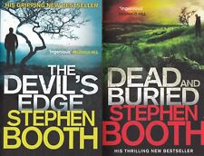 STEPHEN BOOTH - THE DEVIL'S EDGE, DEAD AND BURIED, 2 BOOK SET