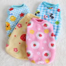 XXS XS Dog Clothes Pet Pajamas Clothing Warm Fleece Coat for Yorkie Kitty Teacup
