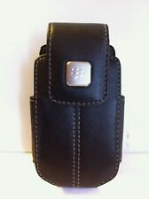 BLACKBERRY PEARL 8220 BLACK LEATHER SWIVEL HOLSTER CASE