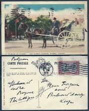 Canada 1939 Postcard - La Caleche de Quebec - Quebec to Liege (Belgium) Vf