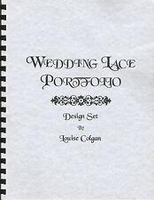 Wedding Lace Portfolio lacemaking book Louise Colgan 4 pricking designs