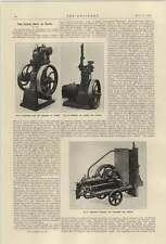 1921 Portable National Gas Producer And Engine Derby Show