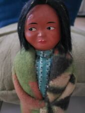 "VINTAGE  NATIVE AMERICAN INDIAN MAN DOLL 9 1/2"" MALE"