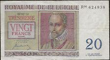 Belgique - Billet de 20 francs 01-07-1950 TTB ! Pick#132a