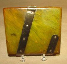 VINTAGE 1930S  BAKELITE CIGARETTE BOX GREEN VINTAGE TOBACCIANA CIGARETTE CASE