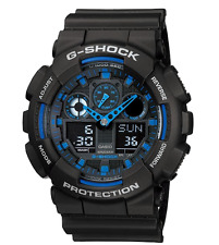 Casio G-SHOCK Mens Analog-Digital Sport Black Watch GA-100-1A2
