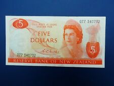 More details for scarce wilks signature 1968-75 new zealand $5 banknote crisp gf