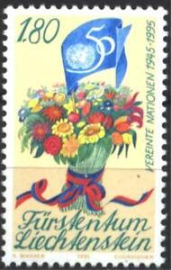 Mint stamp 50 years of the  UN  UNO 1995  from Liechtenstein   avdpz