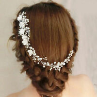 Luxury Wedding  For Bridal Pure White Flowers Pearl Headdress  Hair