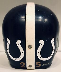 Vintage 1954-55 Baltimore Colts Riddell RT Clear Shell Football Helmet Don Shula
