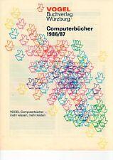Vogel Buchverlag Würzburg - Computerbücher 1986 / 86 Apple Atari etc. - B10870