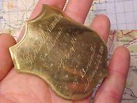 ORIGINAL RARE ALBANY NY 7-17-1880 POLITICAL ? DEBATE BADGE BOSTON MASS / TROY NY