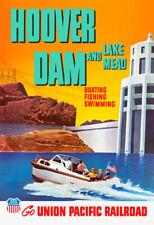 Hoover Dam - Union Pacific Railroad Travel Poster