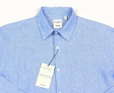 Men's MURANO Fresh Blue Linen Shirt XL Extra Large NEW NWT HOT!!