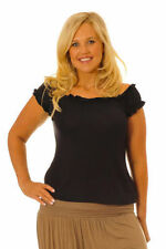 Viscose Cap Sleeve Casual Plus Size Tops for Women