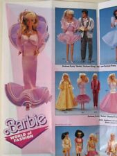 "Rare Vintage BARBIE ""World of Fashion"" Advertising Poster! (Mattel, 1988)"