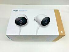 NEST Cam Outdoor Smart Security Camera (2-Pack) Model NC2400ES New Open Box  (B)