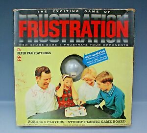 Vintage FRUSTRATION Board Game 1965 by Peter Pan Playthings Pop-O-Matic COMPLETE