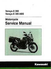 Kawasaki Versys-X 300 & ABS Versys 2017 2018 service manual 3-ring binder