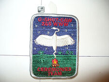 OA O Shot Caw Lodge 265 X-13b,Ceremonies Team,pp,WHT Bd,South Florida Council,FL